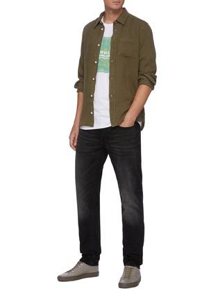 Figure View - Click To Enlarge - DENHAM - 'Noos Razor' Slim Fit Whiskered Denim Jeans