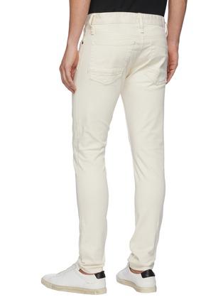 Back View - Click To Enlarge - DENHAM - 'Bolt' Distressed Detail Light Wash Denim Skinny Jeans