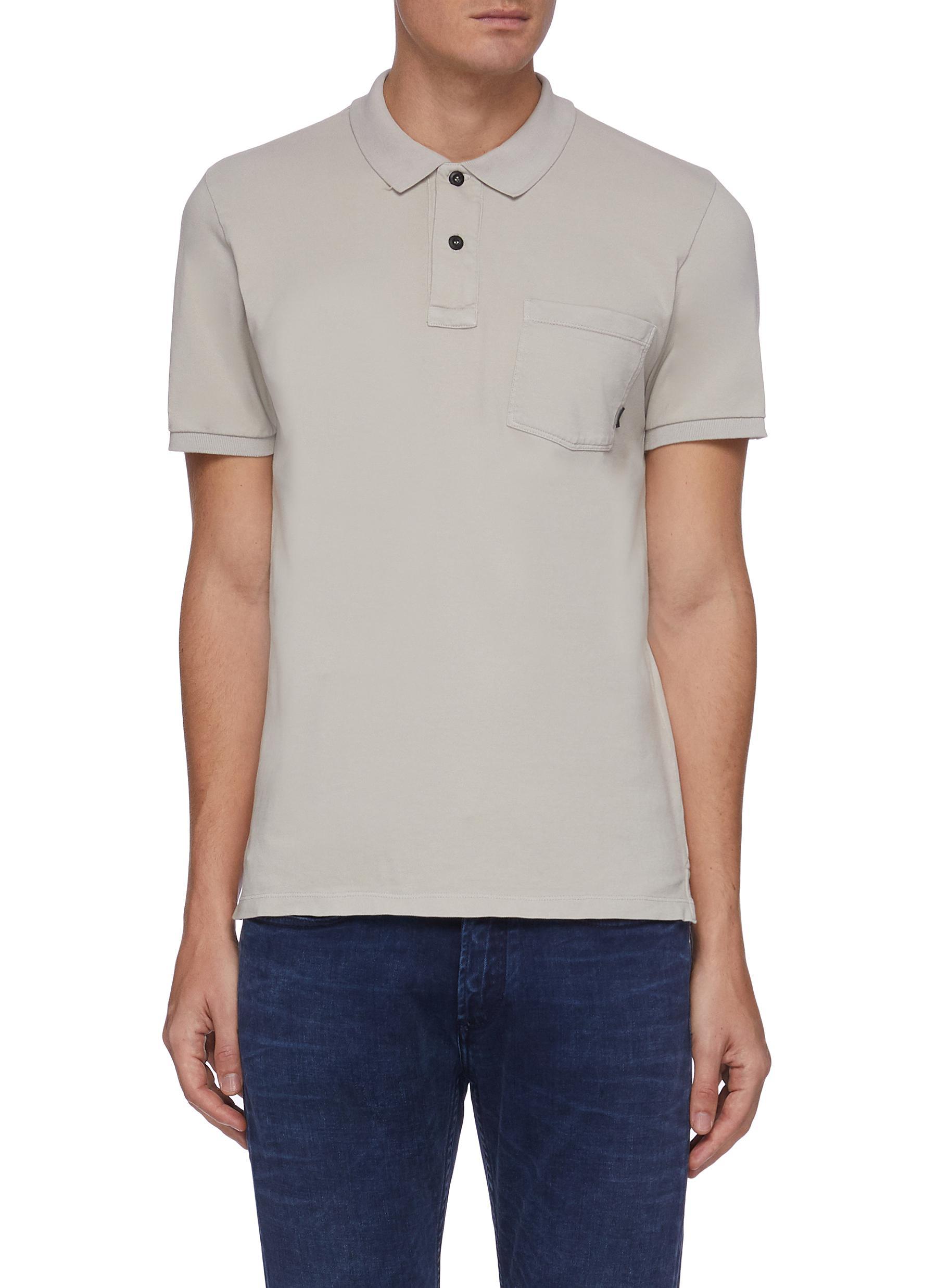 'Regal' Chest Pocket Pique Cotton Polo Shirt