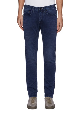 Main View - Click To Enlarge - DENHAM - 'Noos Razor' Slim Fit Whiskered Denim Jeans