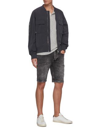 Figure View - Click To Enlarge - DENHAM - 'Razor' washed denim shorts