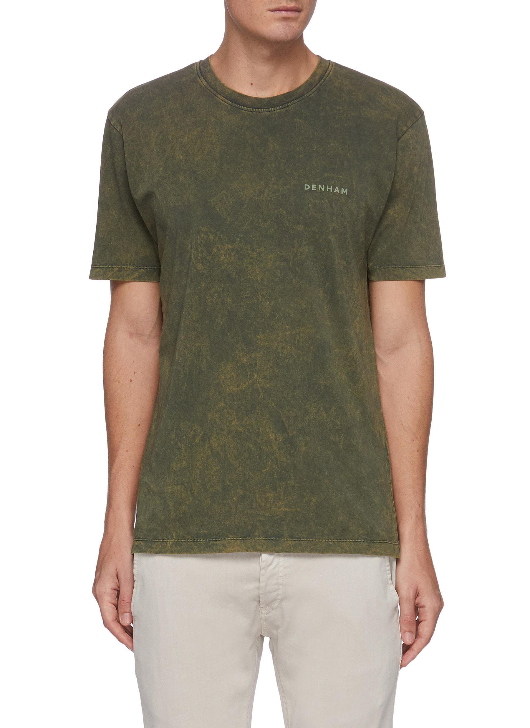 'Baker Model' Wash Out Effect Logo Print Cotton T-shirt