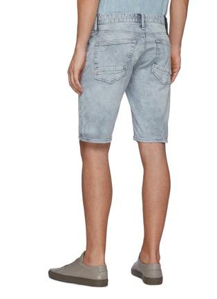 Back View - Click To Enlarge - DENHAM - Razor' Repair Detail Knee Length Denim Shorts