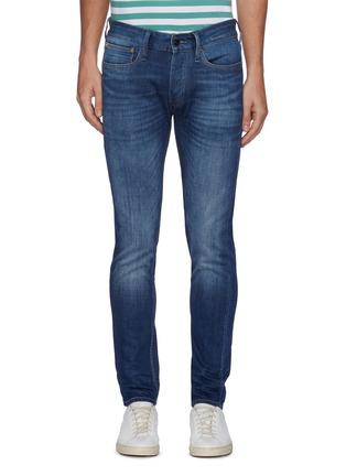 Main View - Click To Enlarge - DENHAM - 'Noos Bolt' Slim Fit Whiskered Denim Jeans