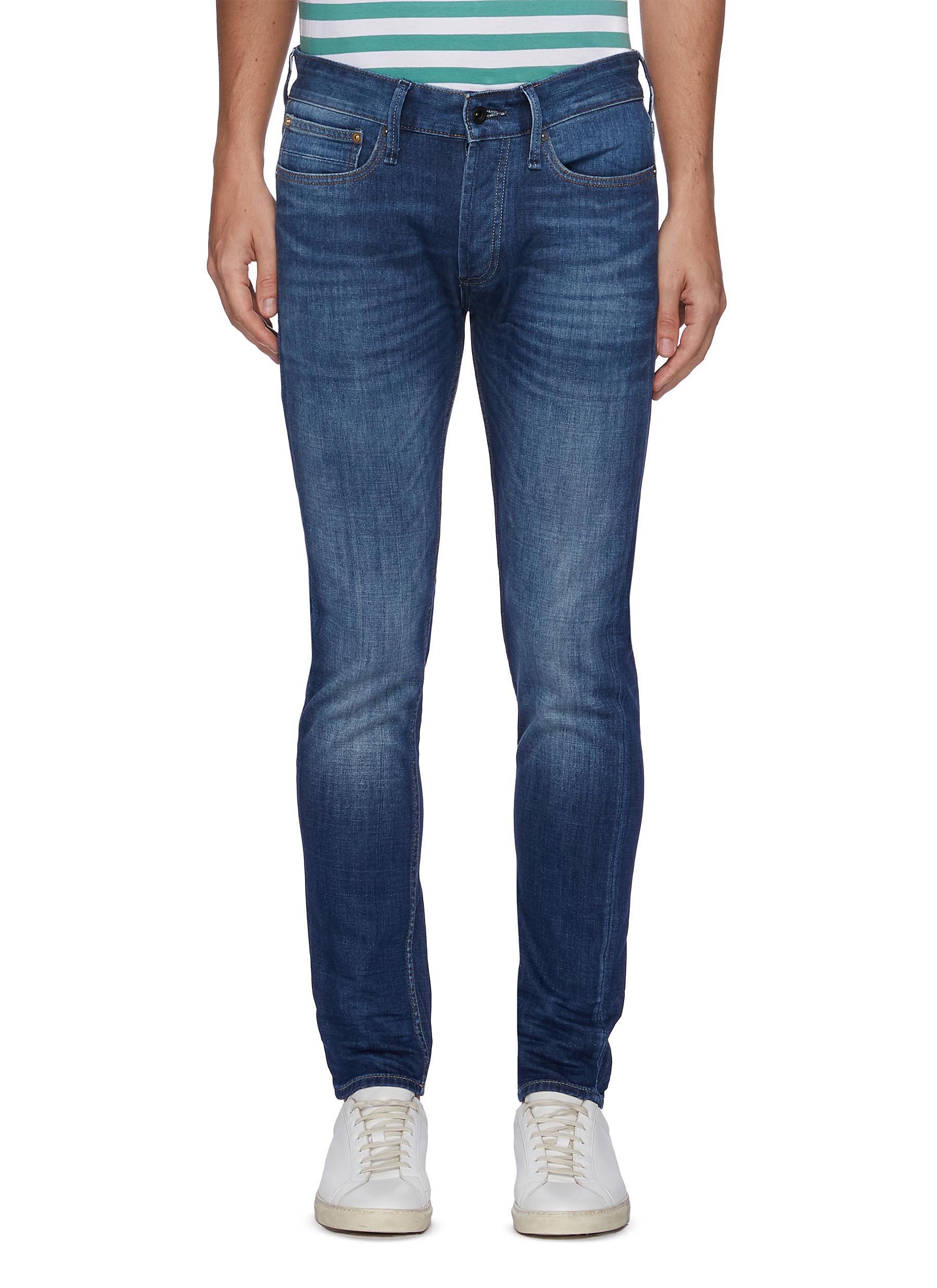 'Noos Bolt' Slim Fit Whiskered Denim Jeans