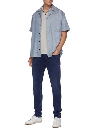 Figure View - Click To Enlarge - DENHAM - 'Noos Bolt' Slim Fit Whiskered Denim Jeans