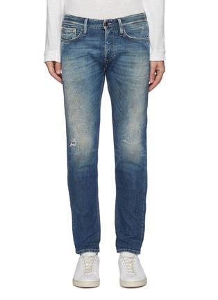 Main View - Click To Enlarge - DENHAM - 'Razor' 7 years SELVEDGE denim slim jeans