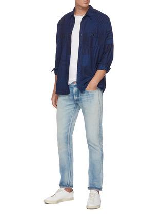 Figure View - Click To Enlarge - DENHAM - 'Razor' medium wash slim jeans