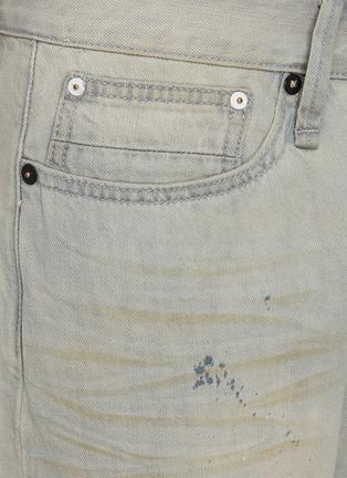 - DENHAM - 'Razor' paint splatter slim fit jeans