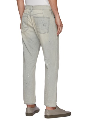 Back View - Click To Enlarge - DENHAM - 'Razor' paint splatter slim fit jeans