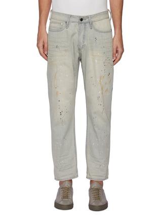 Main View - Click To Enlarge - DENHAM - 'Razor' paint splatter slim fit jeans