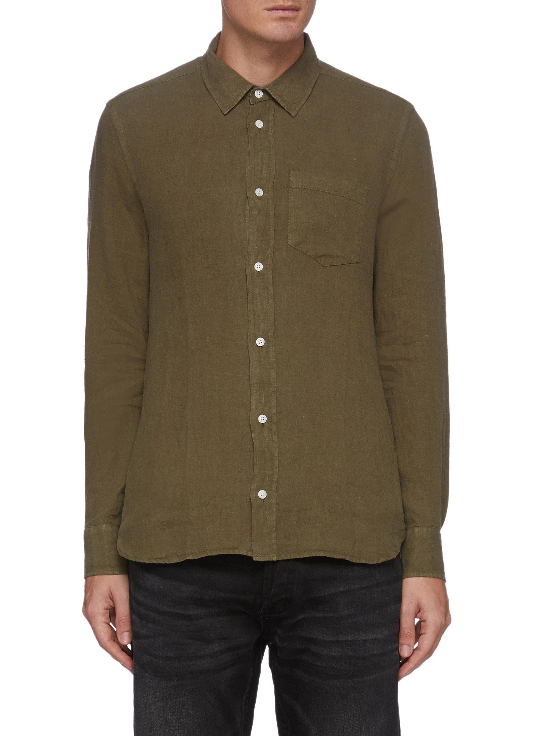 'Harrison' Patch Pocket Linen Shirt