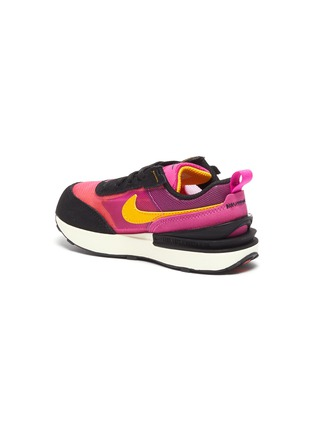 Detail View - Click To Enlarge - NIKE KIDS - 'Waffle One' Mesh Upper Elastic Lace Toddler Sneakers