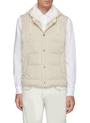 Main View - Click To Enlarge - BRUNELLO CUCINELLI - Hooded Nylon Down Vest