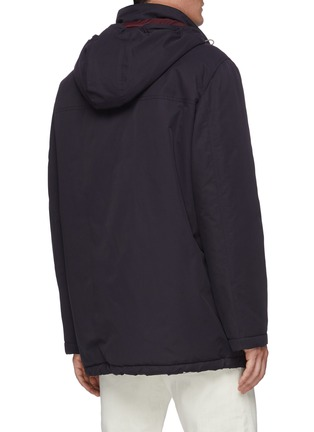 Back View - Click To Enlarge - BRUNELLO CUCINELLI - Padded lightweight gabardine parka jacket