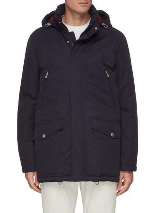 Main View - Click To Enlarge - BRUNELLO CUCINELLI - Padded lightweight gabardine parka jacket