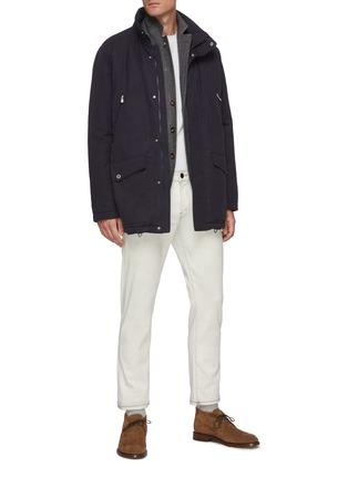 Figure View - Click To Enlarge - BRUNELLO CUCINELLI - Padded lightweight gabardine parka jacket
