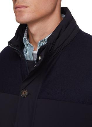 Detail View - Click To Enlarge - BRUNELLO CUCINELLI - Taffeta micro bi-stretch nylon down jacket
