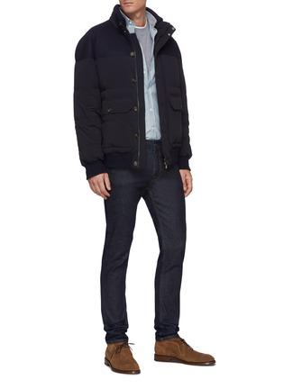 Figure View - Click To Enlarge - BRUNELLO CUCINELLI - Taffeta micro bi-stretch nylon down jacket