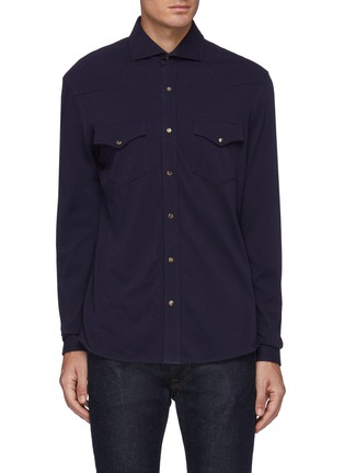 Main View - Click To Enlarge - BRUNELLO CUCINELLI - Cotton Western Shirt