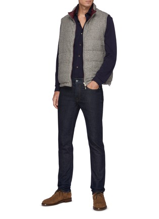 Figure View - Click To Enlarge - BRUNELLO CUCINELLI - Cotton Western Shirt