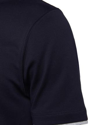 - BRUNELLO CUCINELLI - Slim Fit Crewneck Contrasting Trim Cotton T-Shirt