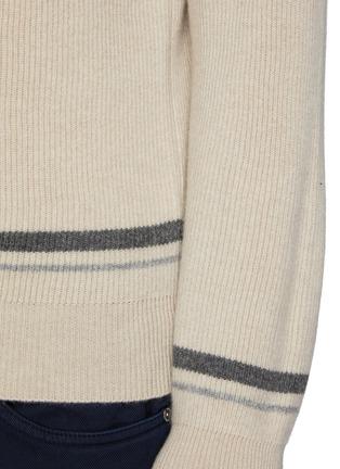 - BRUNELLO CUCINELLI - Tipped Crewneck Cashmere Sweater