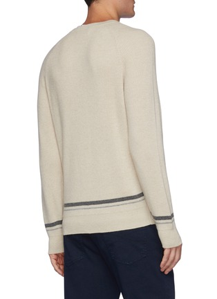 Back View - Click To Enlarge - BRUNELLO CUCINELLI - Tipped Crewneck Cashmere Sweater