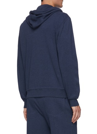 Back View - Click To Enlarge - BRUNELLO CUCINELLI - Cotton-nylon blend drawstring hoodie