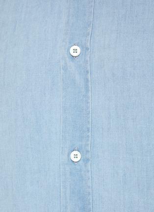 - BRUNELLO CUCINELLI - Spread Collar Light Wash Denim Shirt