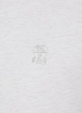 - BRUNELLO CUCINELLI - Logo embroidered cotton T-shirt