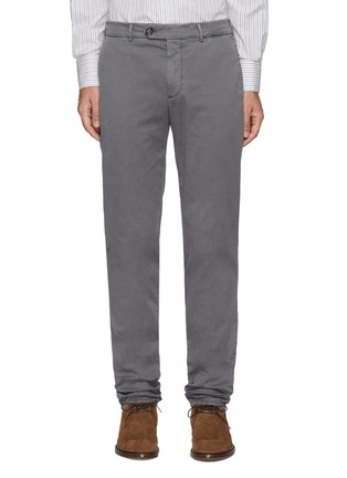Main View - Click To Enlarge - BRUNELLO CUCINELLI - Slim fit tailored cotton pants