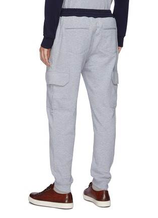 Back View - Click To Enlarge - BRUNELLO CUCINELLI - Drawstring Cotton Cargo Jogger Pants