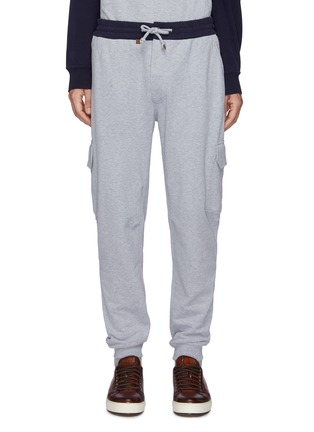 Main View - Click To Enlarge - BRUNELLO CUCINELLI - Drawstring Cotton Cargo Jogger Pants