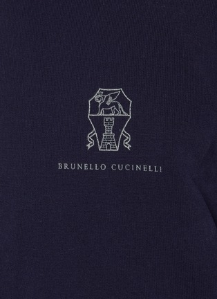 - BRUNELLO CUCINELLI - Half Zip Colourblock Cotton Sweatshirt
