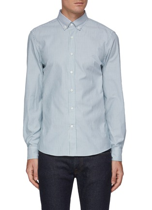 Main View - Click To Enlarge - BRUNELLO CUCINELLI - Panama stripe cotton shirt