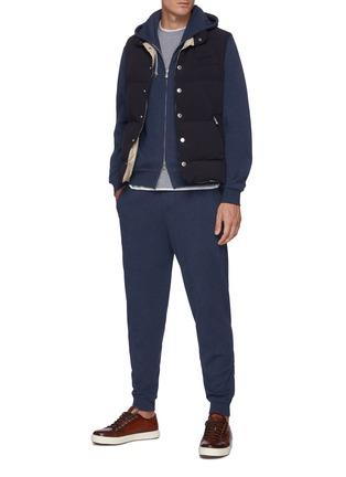 Figure View - Click To Enlarge - BRUNELLO CUCINELLI - Elastic waist cotton-nylon blend jogger pants