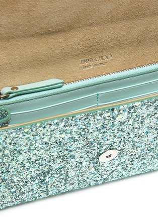 Detail View - Click To Enlarge - JIMMY CHOO - 'Emmie' glitter clutch