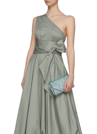 Front View - Click To Enlarge - JIMMY CHOO - 'Emmie' glitter clutch