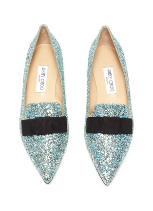 Detail View - Click To Enlarge - JIMMY CHOO - 'Gala' glitter degradé loafers