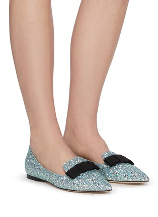 Figure View - Click To Enlarge - JIMMY CHOO - 'Gala' glitter degradé loafers