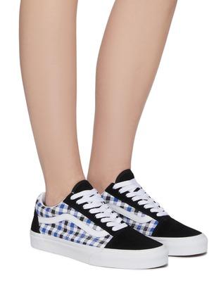 Figure View - Click To Enlarge - VANS - Old Skool' gingham print lace up sneakers