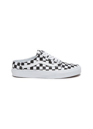 Main View - Click To Enlarge - VANS - 'Old Skool' Checkered Slip-on Mules