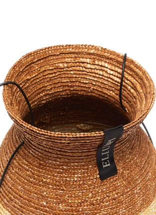 Detail View - Click To Enlarge - ELIURPI - 'Vase' Bicolour Straw Bucket Bag