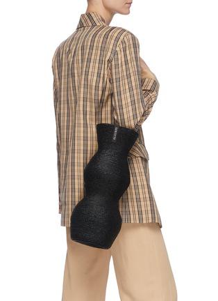 Figure View - Click To Enlarge - ELIURPI - 'Double' Straw Bucket Bag