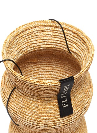 Detail View - Click To Enlarge - ELIURPI - 'Triple' Straw Bucket Bag