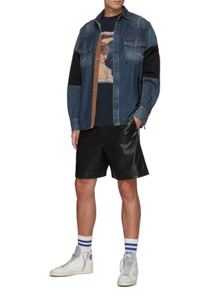 Figure View - Click To Enlarge - RHUDE - Crewneck Short Sleeve Graphic T-Shirt