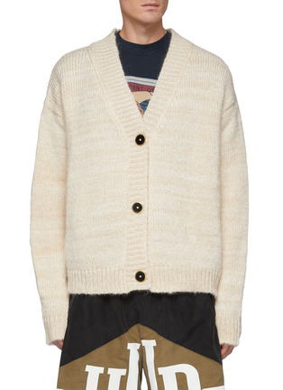 Main View - Click To Enlarge - RHUDE - Monte Carlo' Cashmere Wool Melange Knit Cardigan