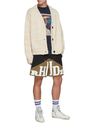 Figure View - Click To Enlarge - RHUDE - Monte Carlo' Cashmere Wool Melange Knit Cardigan