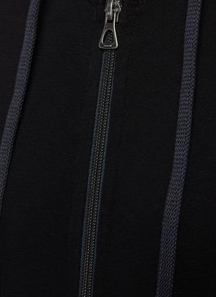 - JAMES PERSE - Supima Cotton Drawstring Zip Up Hoodie